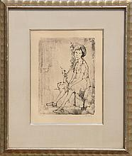 Jean Jansem, Seated Girl, Lithograph
