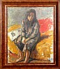 Robert Philipp, Seated Girl, Oil Painting, Robert Philipp, $2,000