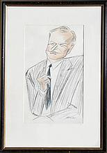Julius Kroll, John D. Rockefeller, Charcoal and Pastel Drawing