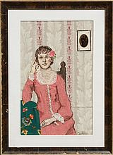 Coakley, Seated Woman, Collage
