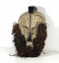 African, Male Mask with Grass Beard