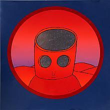 Jean Michel Folon, Red Head, Serigraph Poster
