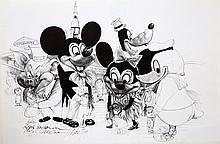 Ralph Steadman, Disneyland, Offset Lithograph