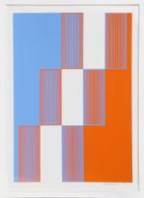 Richard Anuszkiewicz, Celebrate New York, Silkscreen
