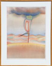 Jean-Michel Folon, untitled (Dancer), Serigraph