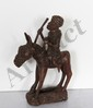 Benin, Horse and Rider, Bronze Sculpture