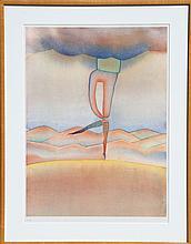 Jean-Michel Folon, Dancer, Serigraph