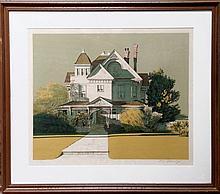 Merv Corning, Miramar House, Lithograph