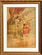 Alphonse Mucha, Peche, Chromolithograph on Canvas