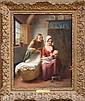 Francois-Antoine De Bruycker, The First Born, Oil Painting
