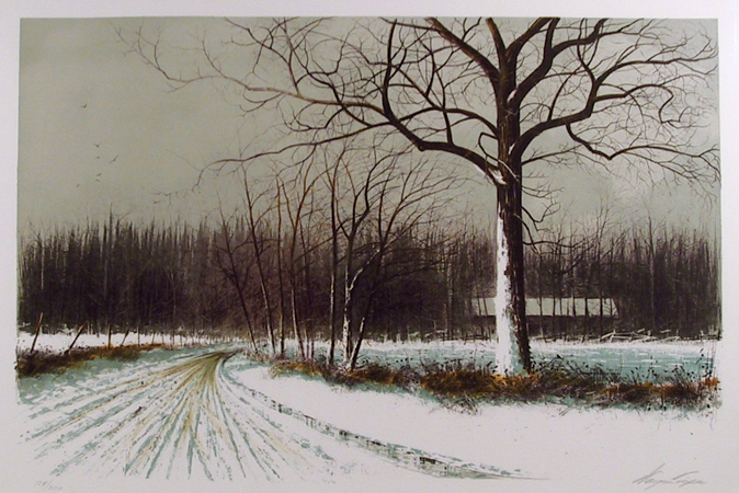 Wayne Cooper, Spring Road, Lithograph