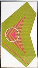 Aaronel deRoy Gruber, Large Op-Art 1 Serigraph