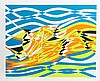 Stanley Hayter, Op-Art Abstract 4, from the Aquarius Suite, Silkscreen