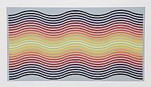 Jurgen Peters, Rainbow Waves, Serigraph