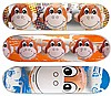 Jeff Koons, Set of 3 Skateboard Decks (Monkeys), Silkscreen on Skateboard
