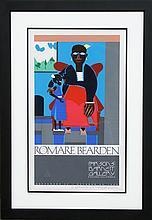 Romare Bearden, Mother and Child, Parsons Barnett Gallery, Silkscreen Poster