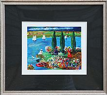 Shlomo Alter, By the River, Serigraph