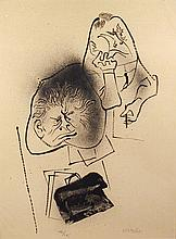 William Gropper, Lawyer and Client, Lithograph