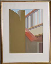 Saul Chase, Ramp with Red Roof, Serigraph