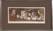 Philippe Alfieri, Back Yard Scene, Lithograph