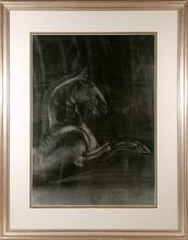 Horse, Serigraph on Foil Poster