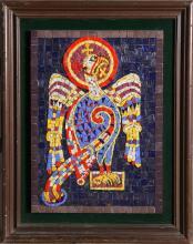 Mosaic Eagle, Ceramic Tile Mosaic