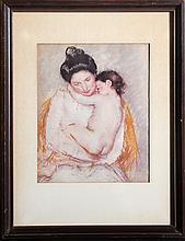 Mary Cassatt, Mother and Child, Lithograph