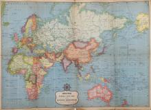 United Press Foreign News - Eastern Hemisphere and Air Age, Map