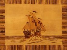 Oskar Higlister, Santa Maria, Wooden Plaque