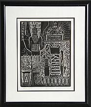 Alexander Raymond Katz, Sacred Things from The Mishna Portfolio, Woodcut