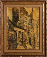 T. Kosty, Au Cadet, Oil Painting