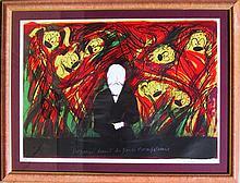 Jean Messagier, Cezanne Amongst the Marsupials, Lithograph
