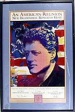 Peter Max, Clinton Inaugural Poster (version 2), Poster