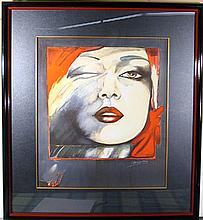 Helene Guetary, Self-Portrait, Lithograph