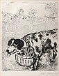 Marc Chagall, Le Chien qui porte, Etching