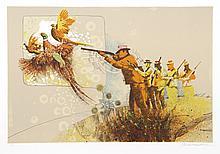 Allan Mardon, Pheasant Hunt, Lithograph