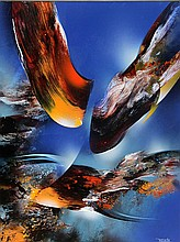 Leonardo Nierman, Bird of Paradise, Oil Painting