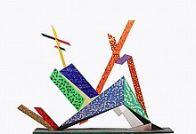 Paul von Ringelheim, Geometric Painted Wood Sculpture