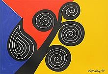 Alexander Calder, Autumn, Lithograph