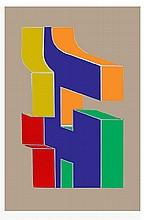 Chryssa, Times Square Fragment #10, Serigraph