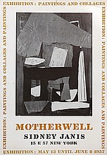 Robert Motherwell, Exhibition: Paintings and Collages at Sidney Janis, Poster