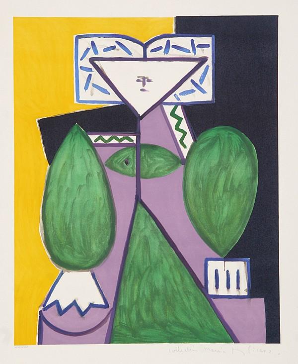 Pablo Picasso, Femme en Vert et Mauve, Lithograph