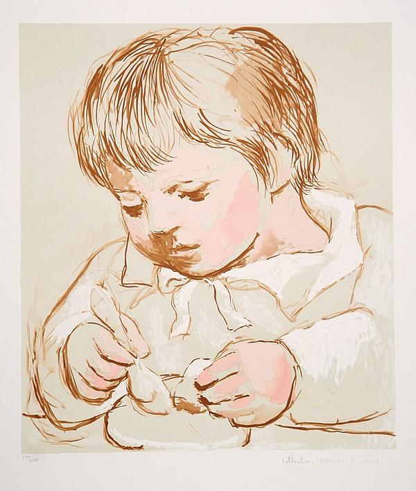 Pablo Picasso, Enfant Deieunant, Lithograph