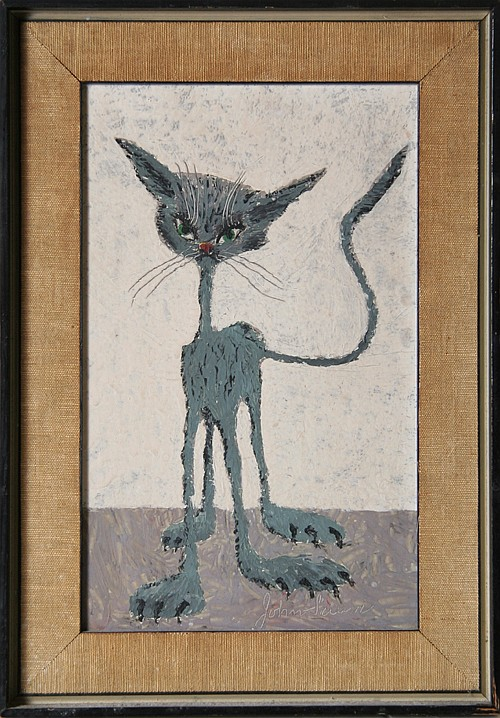 John Silavi, Cat, Painting