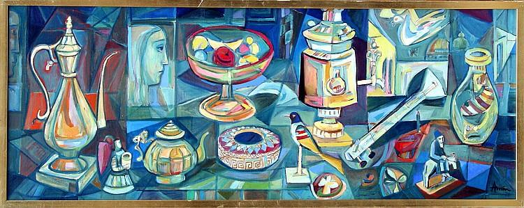Irving Amen, Objet d'Art, Oil Painting