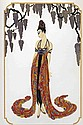 Erte, Feather Gown, Embossed Serigraph