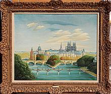 Gyorgy Stefula, Paris Stadbild, Oil Painting