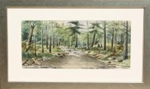 T. Hagerman, Forest Stream, Watercolor