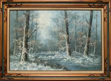 Carl Madden, Forrest Stream, Oil Painting