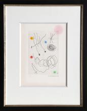 Joan Miro, La Chouette et l'Escargot, Aquatint Etching